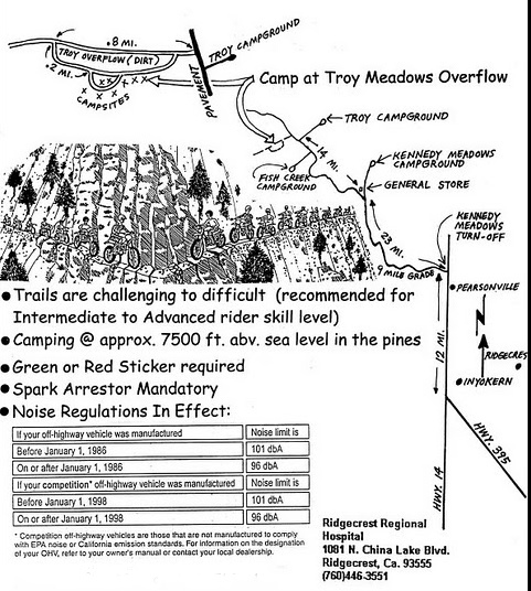 RUTS Kennedy Meadows 2011 map